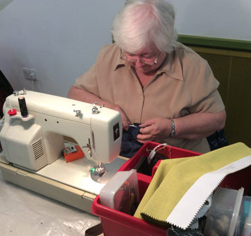 Repair cafe sewing